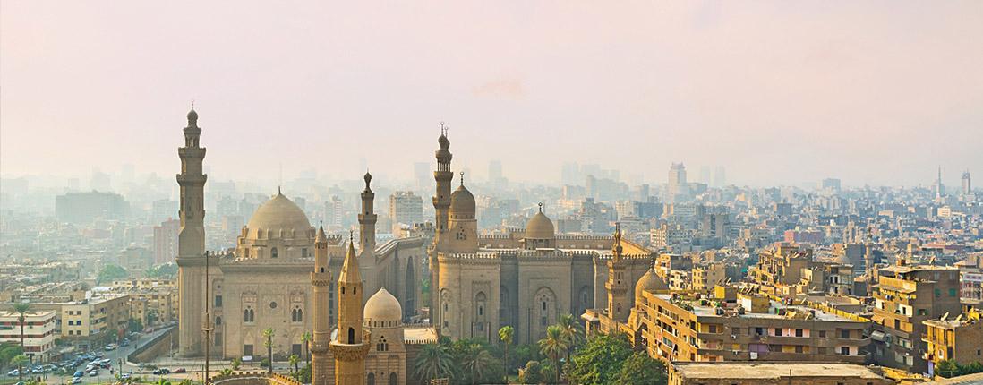 Beautiful landscape of Cairo, Egypt.