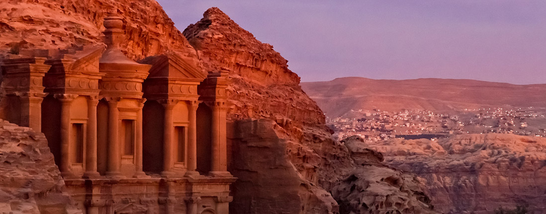 Ancient temple outside of Jordan's imperial capital.