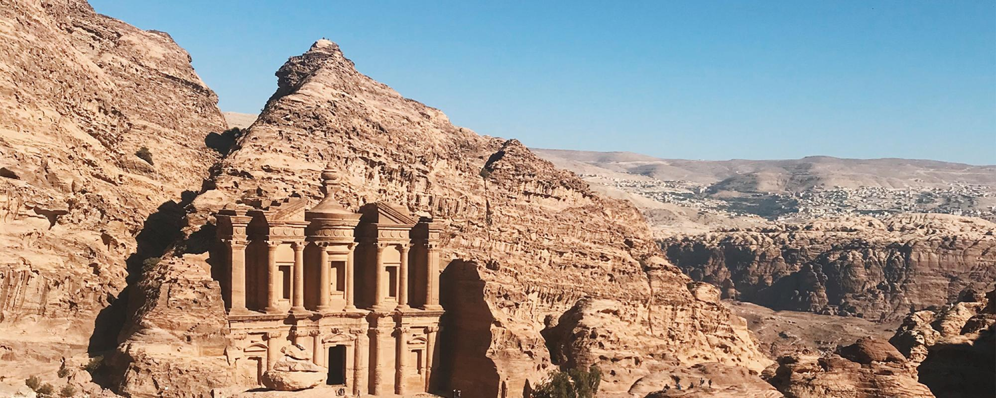 Beautiful ancient temple in Petra, Jordan.